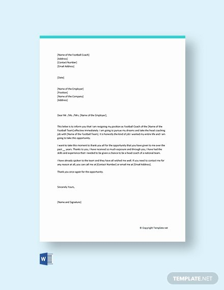Letter Of Resignation Template Microsoft Lovely 157 Free Resignation Letter Templates In Microsoft Word
