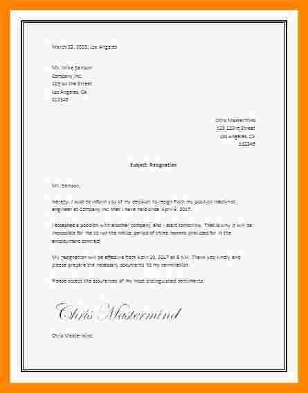 Letter Of Resignation Template Microsoft Unique 5 Microsoft Word Letter Of Resignation Template