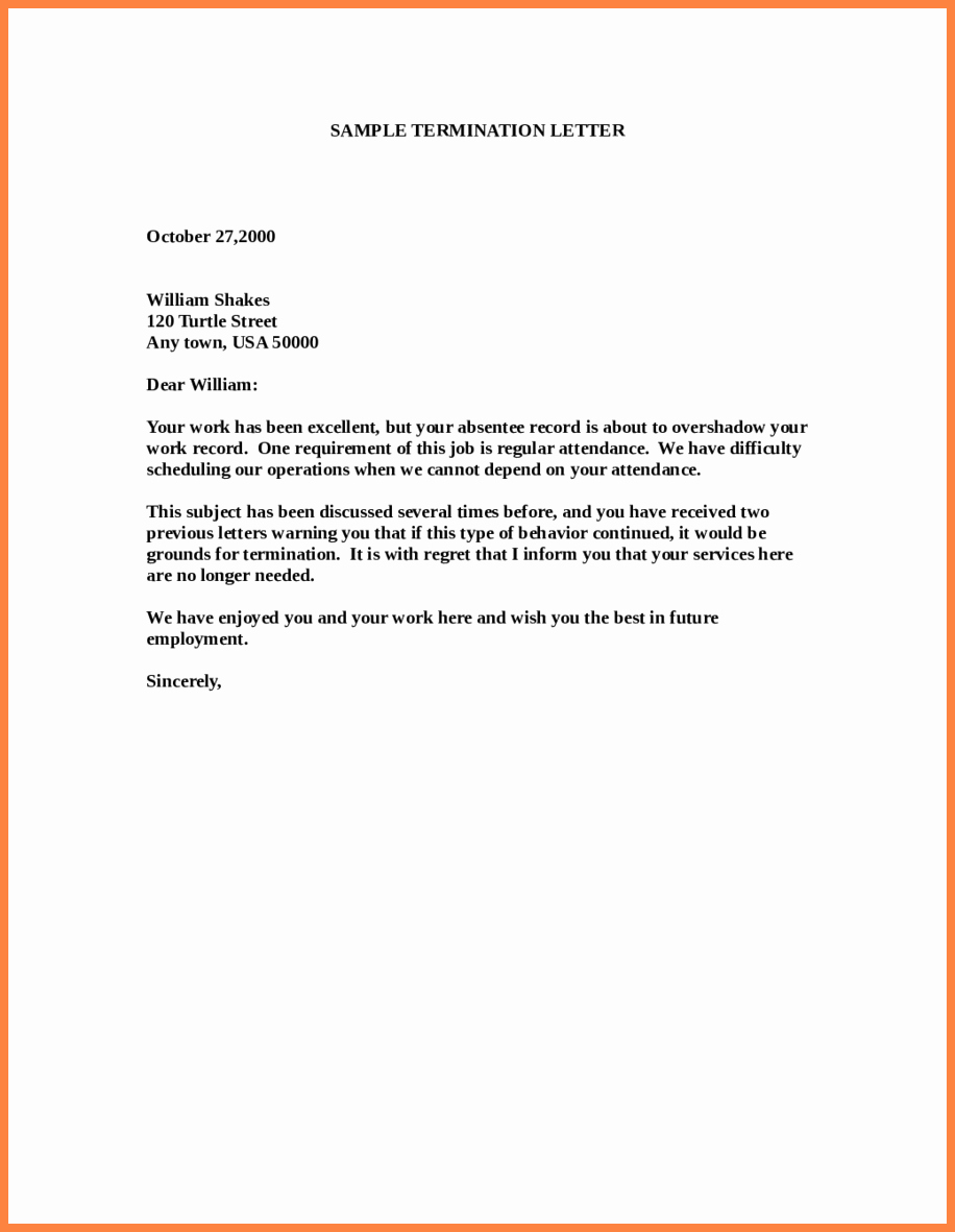 Letter Of Termination to Employee Awesome 11 Employment Termination Notice Sample
