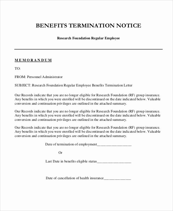 Letter Of Termination to Employee Fresh 9 Sample Employee Termination Letters Word Pdf Pages