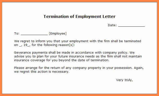 Letter Of Termination to Employee Unique 11 Employment Termination Notice Sample