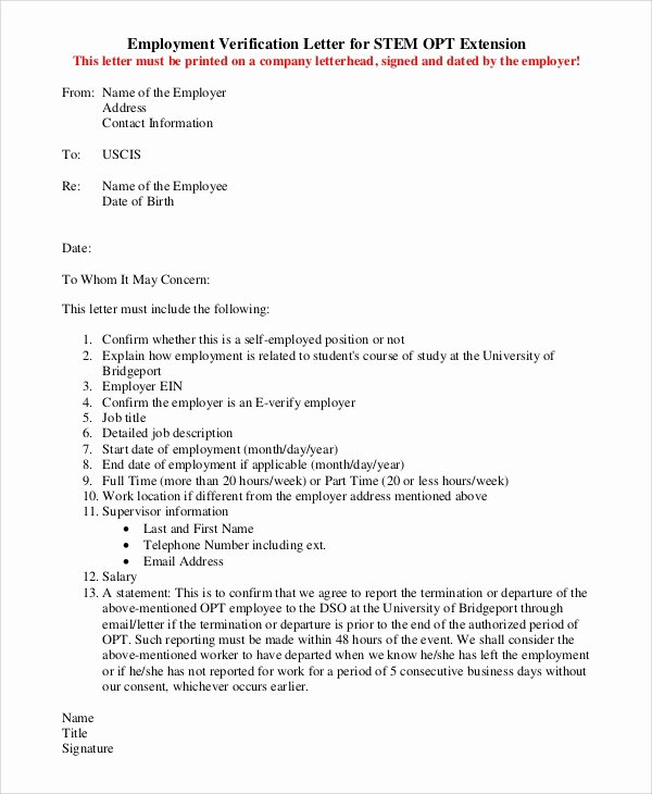 Letter Of Work Verification Beautiful Sample Letter Of Employment Verification 10 Examples In