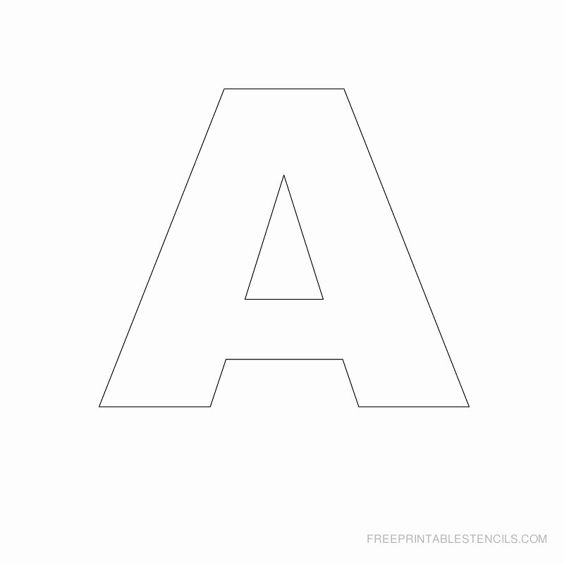 Letter Stencils to Print Free Awesome Big Letter Printable Stencils A to Z