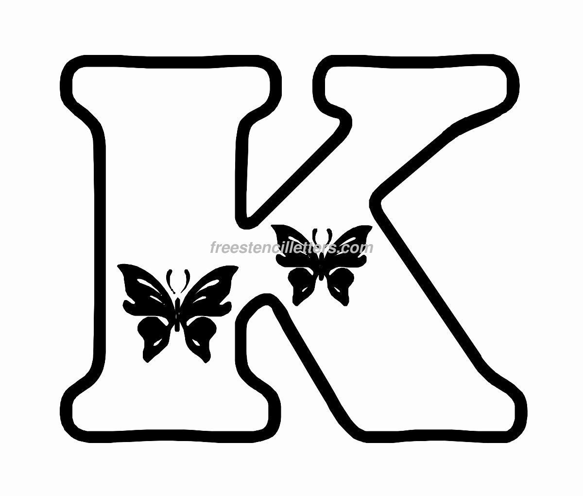 Letter Stencils to Print Free Elegant butterfly Stencil Letters Archives Free Stencil Letters