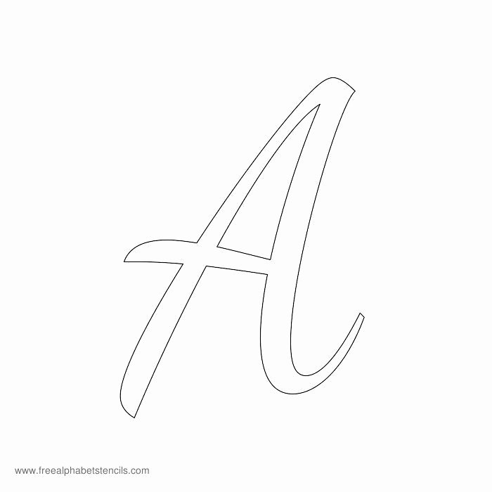 Letter Stencils to Print Free Lovely Read Article 1950s Casual Cursive Alphabet Stencils