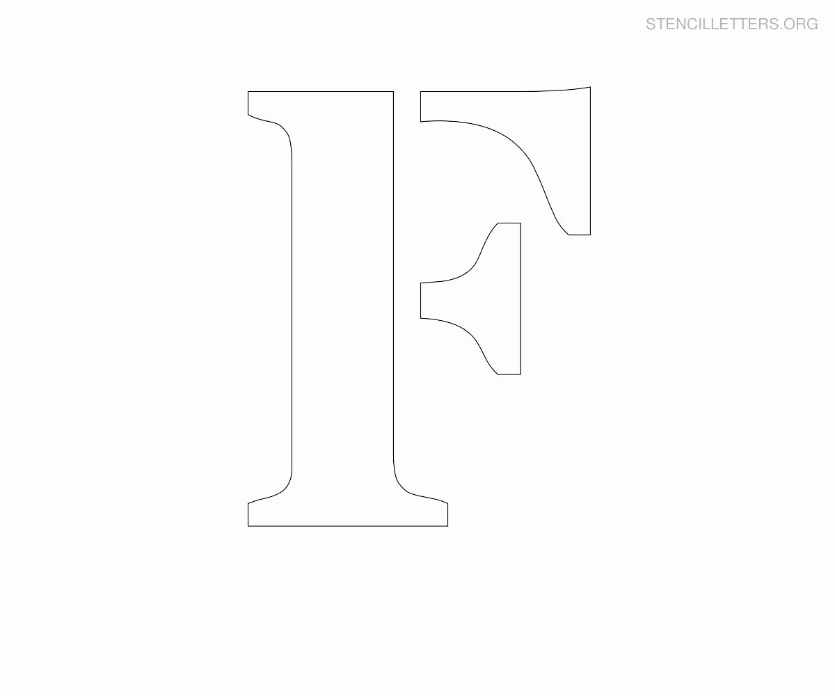 Letter Stencils to Print Free Lovely Stencil Letters F Printable Free F Stencils