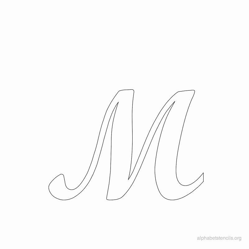 Letter Stencils to Print Free Luxury Print Free Alphabet Stencils Cursive M
