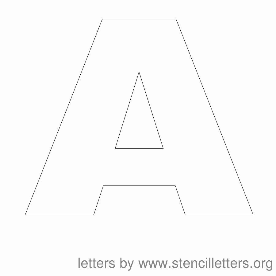 Letter Stencils to Print Free New Stencil Letters Free Printable Stencil Letters Fonts