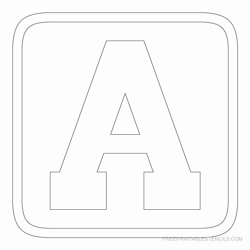 Letter Stencils to Print Free Unique Printable Block Letter Stencils