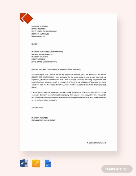 Letter Template Google Docs Beautiful 142 Free Resignation Letter Templates In Google Docs