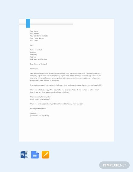 Letter Template Google Docs Fresh 66 Free Cover Letter Templates In Google Docs