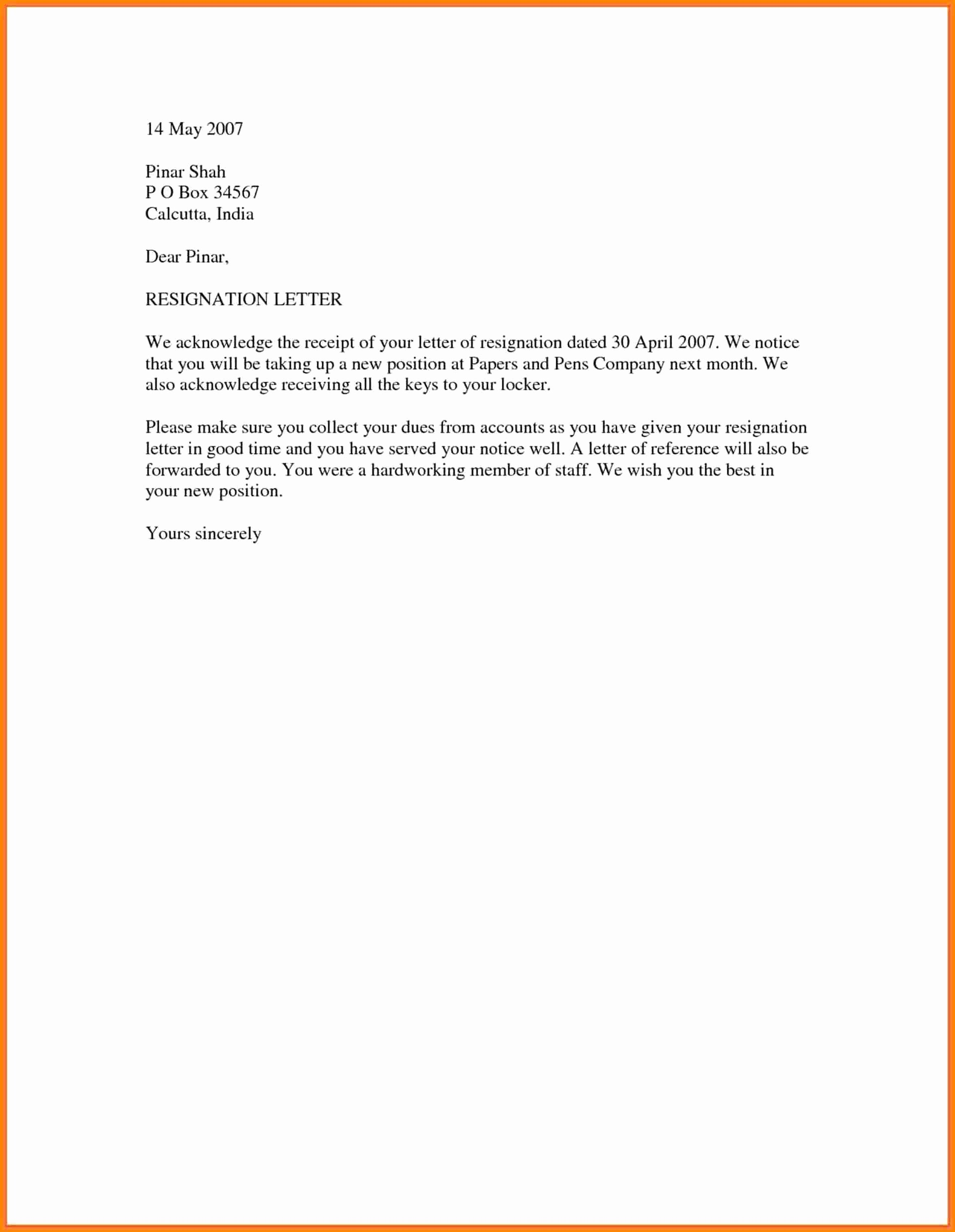 Letter Templates for Word Awesome 10 Official Resignation Letter Sample