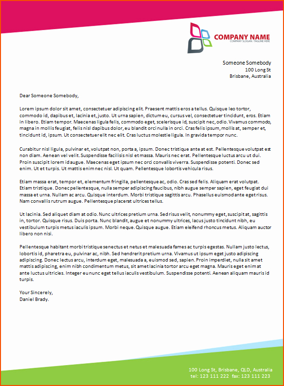 Letter Templates for Word Beautiful 6 Microsoft Word Business Letter Template