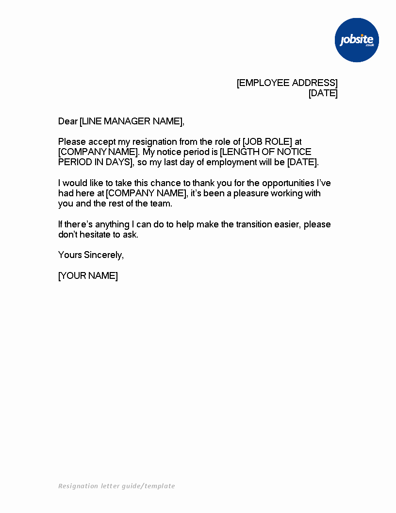 Letter Templates for Word Fresh Resignation Letter Ms Word