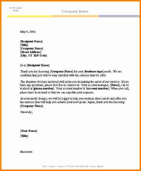 Letter Templates for Word Inspirational 7 Microsoft Word Letter Template