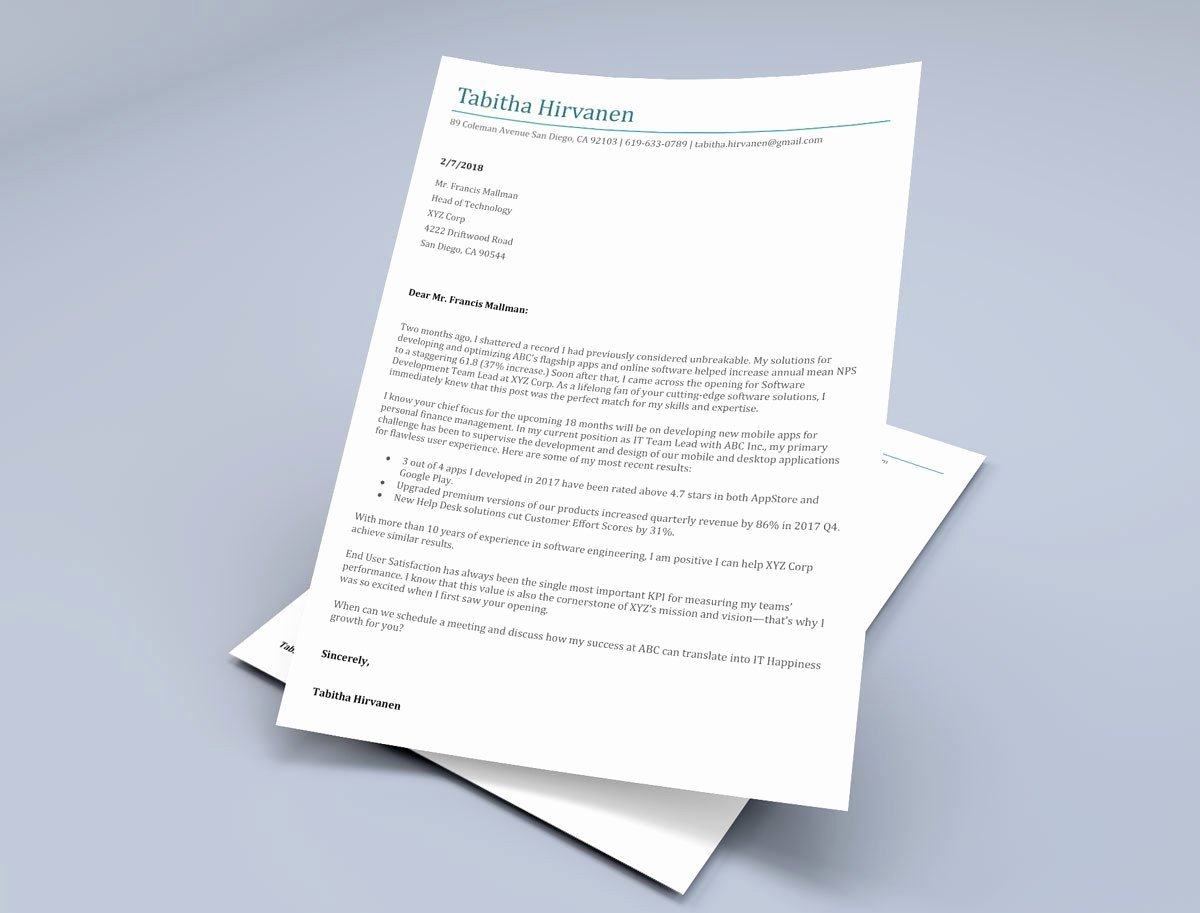 Letter Templates for Word Lovely 12 Cover Letter Templates for Word [best Free Downloadable
