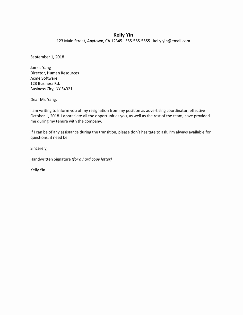 Letter Templates for Word New Resignation Letter Microsoft Word – Microsoft Word