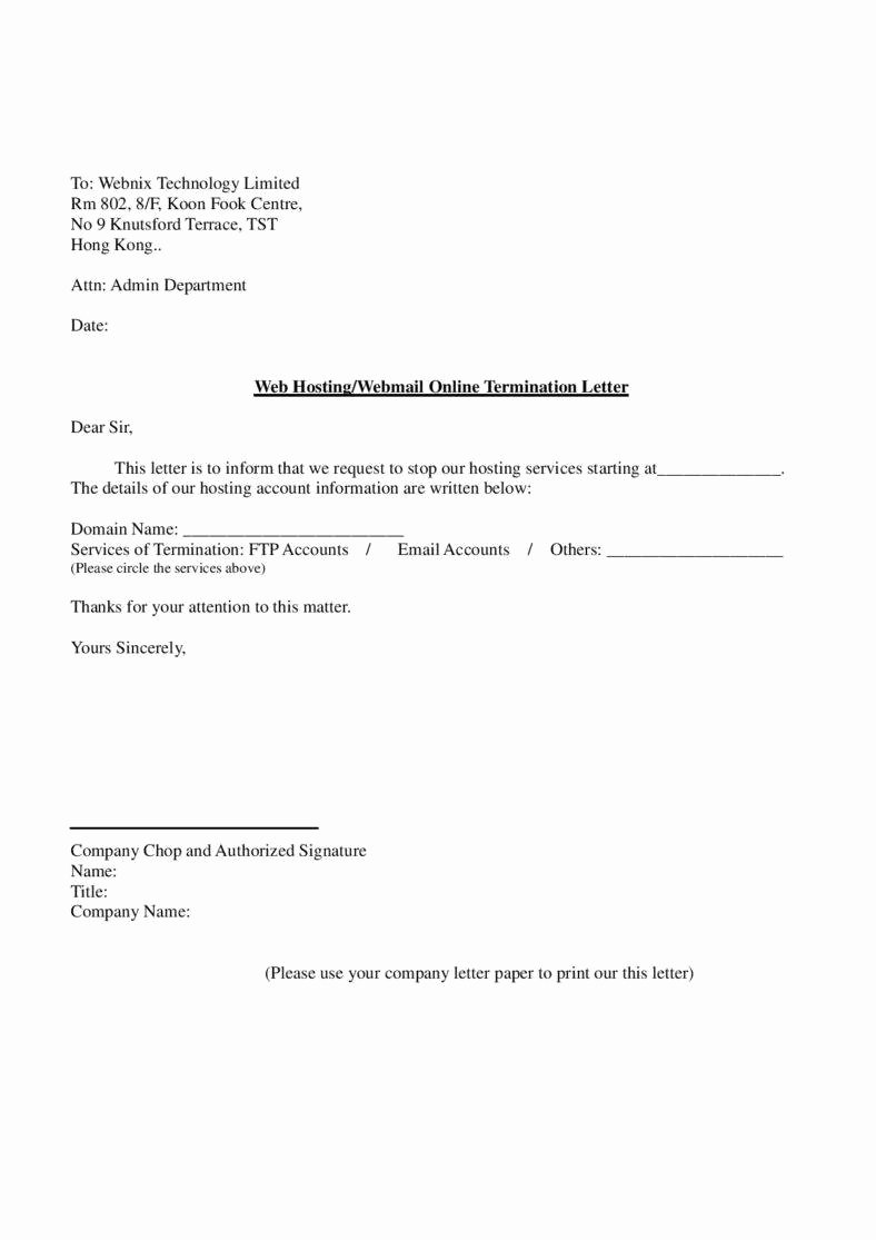 Letter to Discontinue Service Fresh 27 Termination Letter Templates Samples Examples