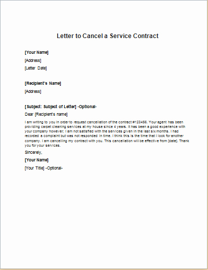 Letter to Discontinue Service Luxury Letter to Cancel A Health Insurance