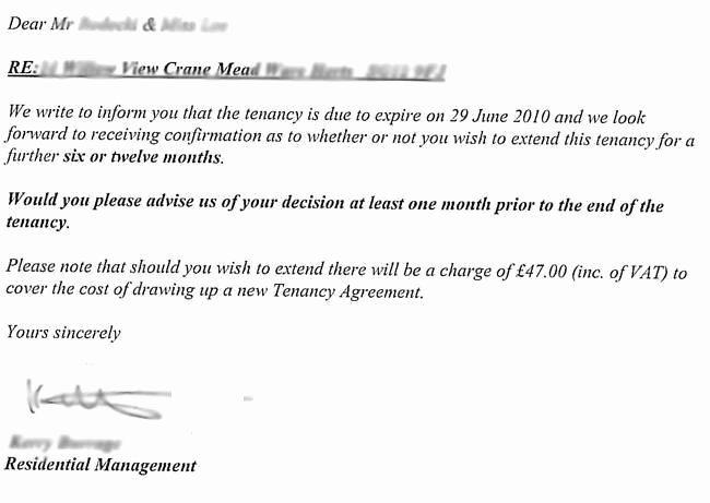 Letter to End Lease Inspirational How Tenants Can Avoid Paying A Tenancy Renewal Fee