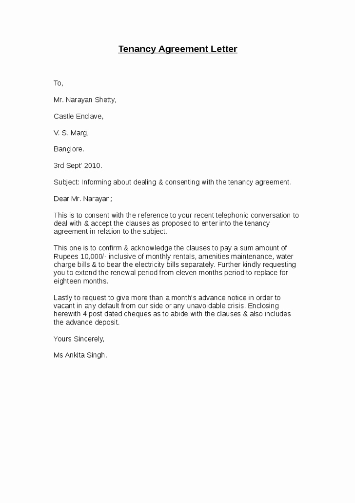 Letter to End Lease Lovely Lease Agreement Letters