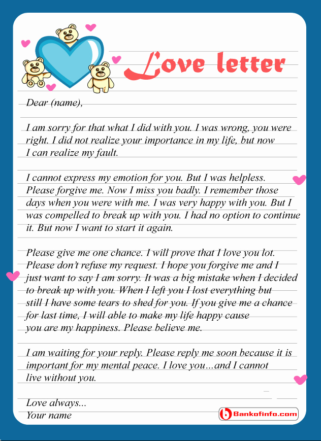 Letter to Get Her Back Beautiful Apology Letter to Husband for Hurting Him