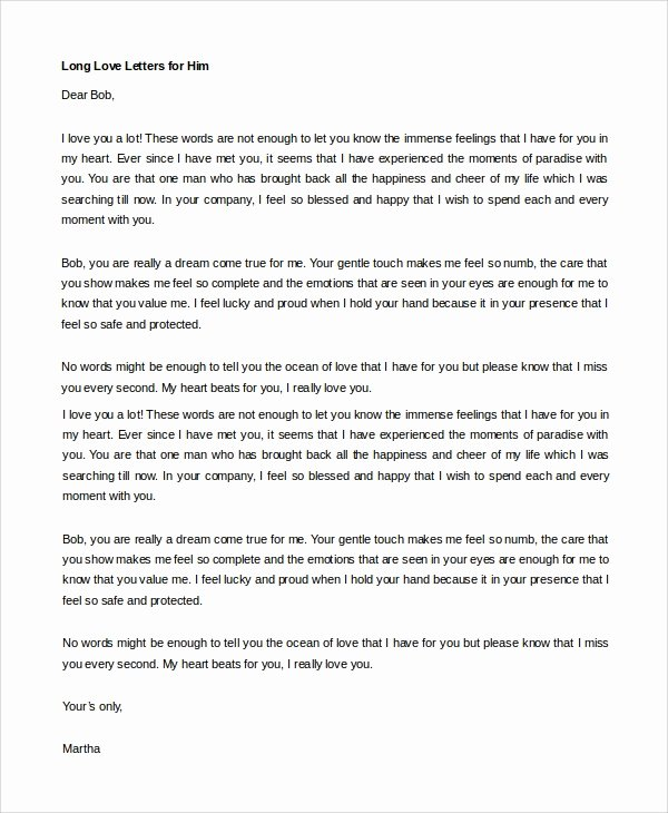 Letter to My Boyfriend Best Of Sample Love Letter to Boyfriend 7 Examples In Word
