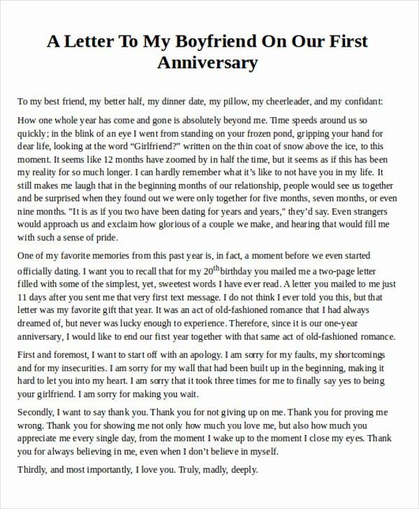 Letter to My Boyfriend Elegant Love Letter Examples