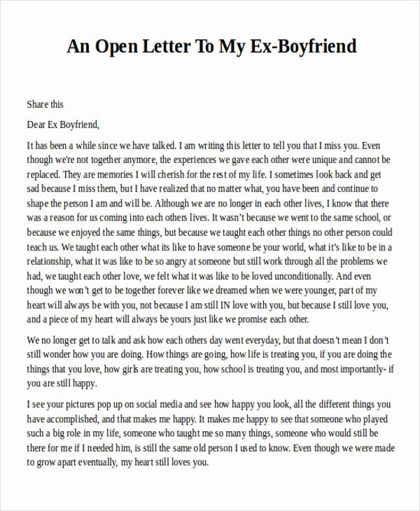 Letter to My Boyfriend Unique Love Letter Examples