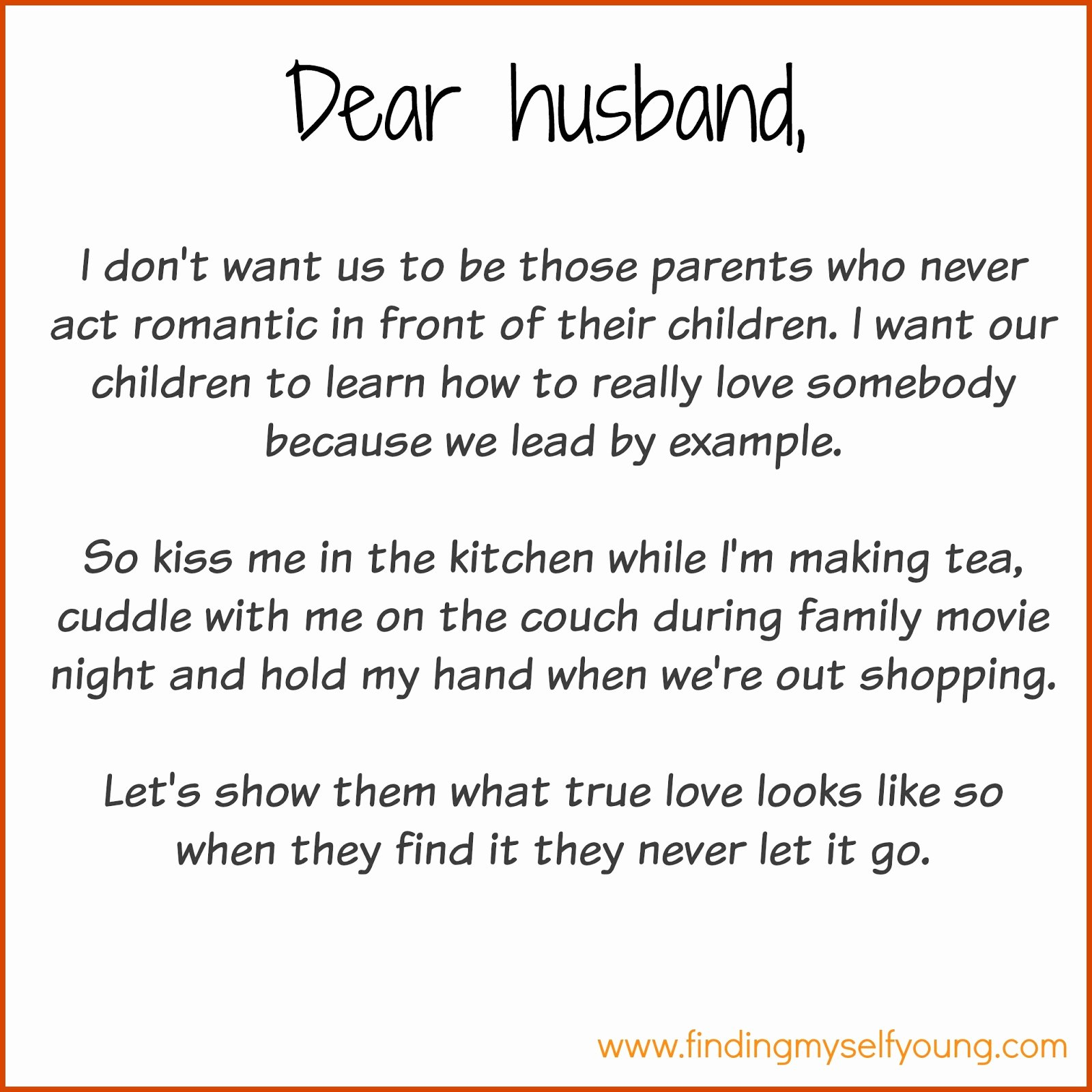 Letter to My Husband Inspirational Finding Myself Young December 2015
