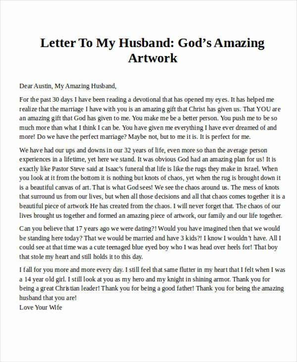 Letter to My Husband Luxury Love Letter Examples