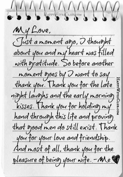 Letter to My Husband Luxury Thank You for the Pleasure Of Being Your Wife