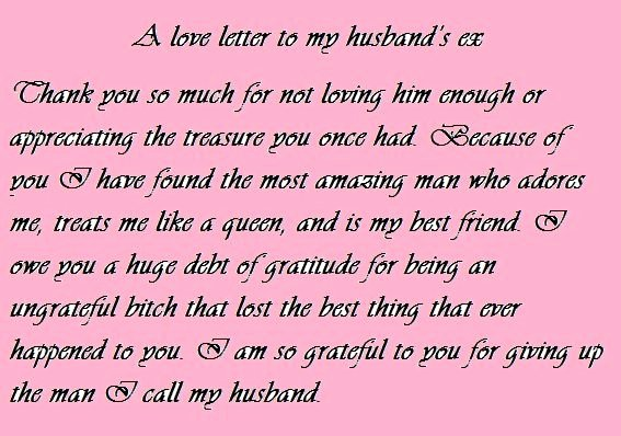 Letter to My Husband Unique Love Letter to My Husband S Ex