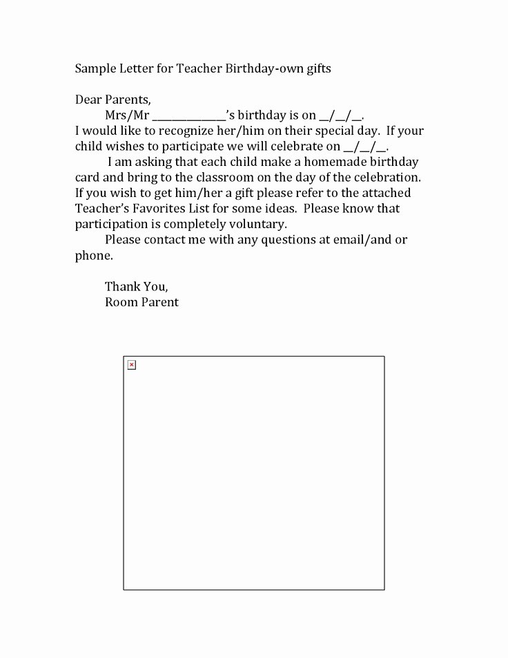 Letter to Parents Template Inspirational Teacher Templates Letters Parents