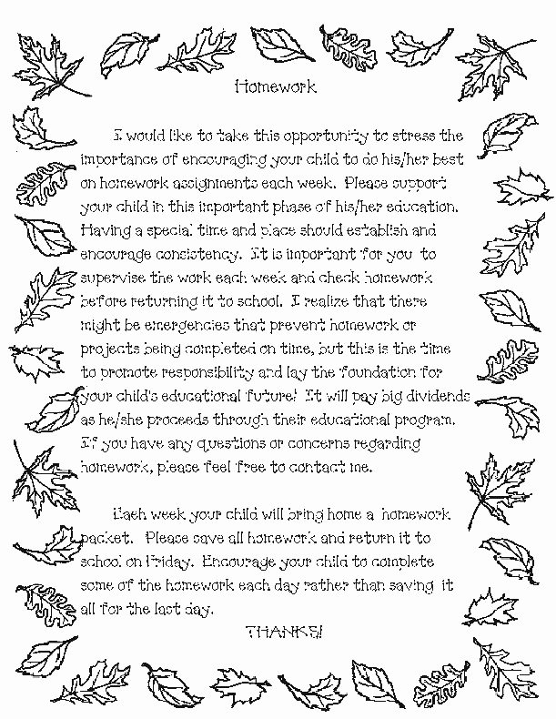 Letter to Parents Template Unique Teacher Templates Letters Parents