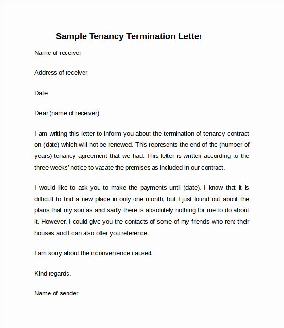 Letter to Tenant to Vacate Unique 11 Sample Notice to Vacate Letters Pdf Ms Word Apple