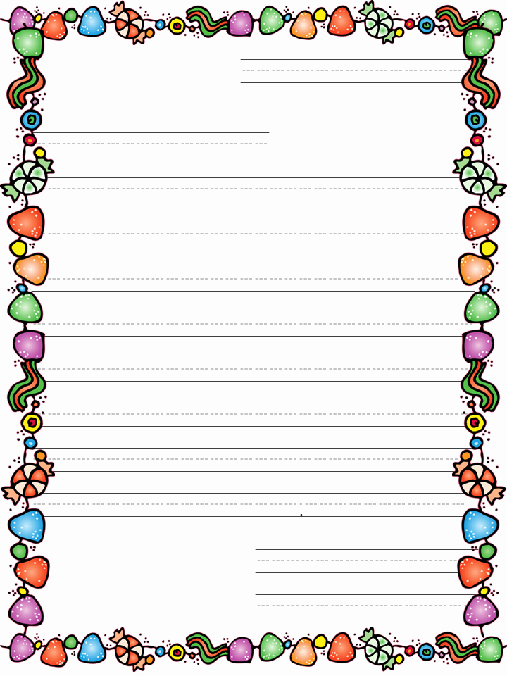 Letter Writing Paper Template Inspirational Christmas Letter Template for Kids