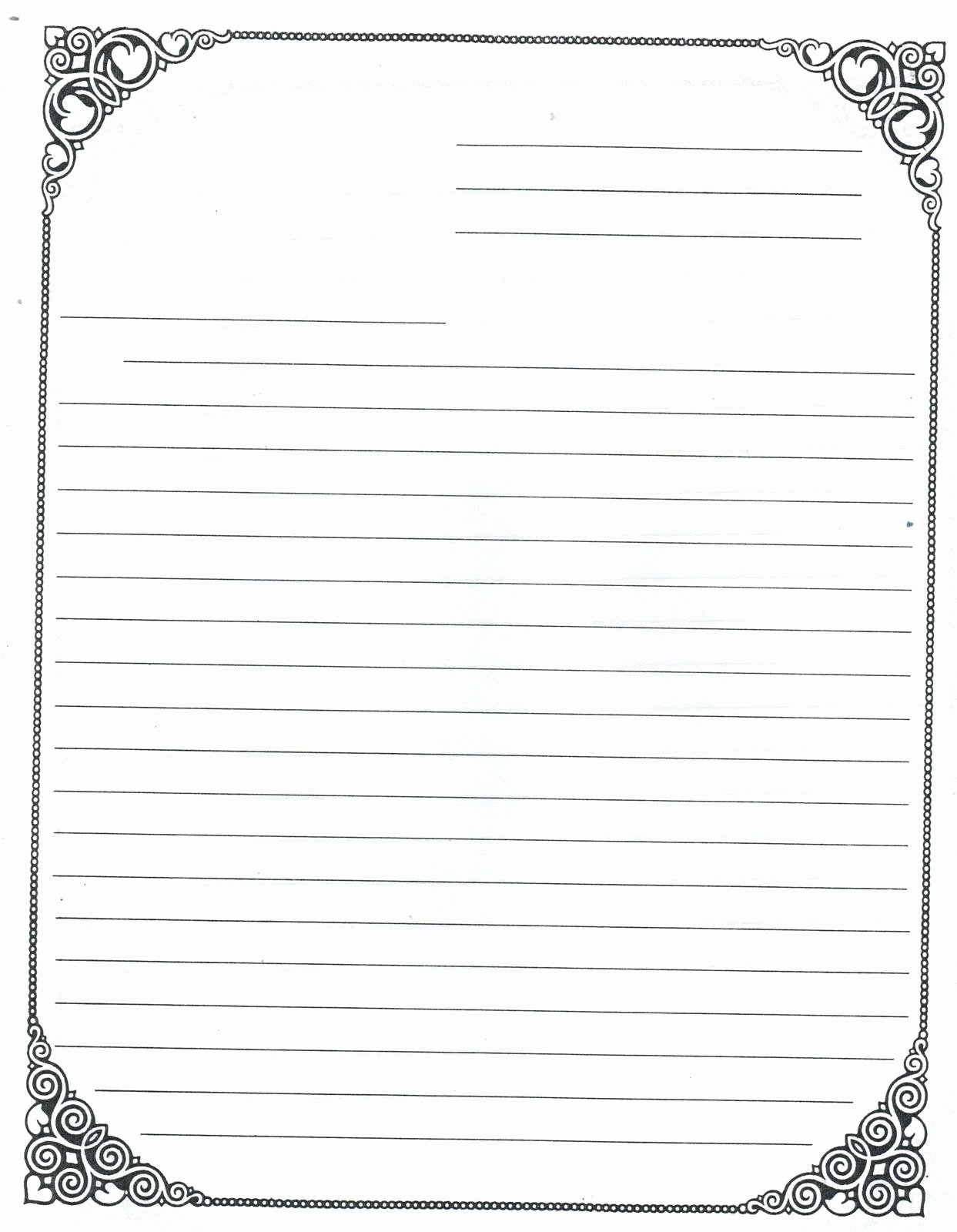 Letter Writing Paper Template Inspirational Lined Paper for Kids Printable
