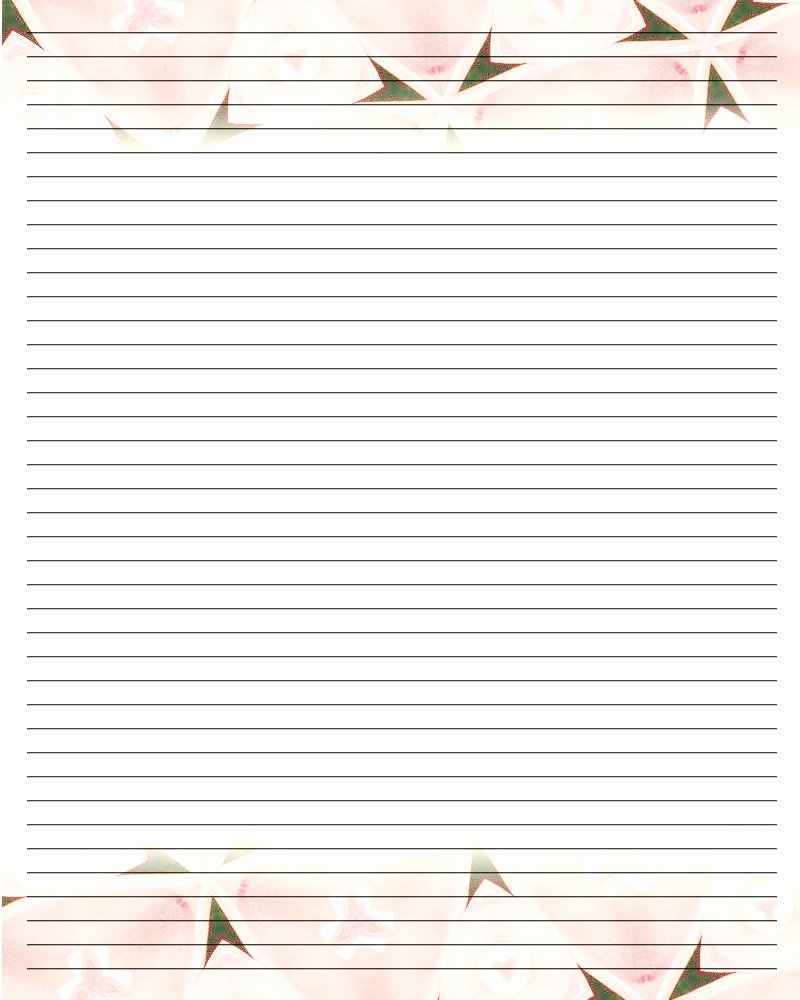 Letter Writing Paper Template Luxury Best S Of Letter Paper with Lines Free Printable