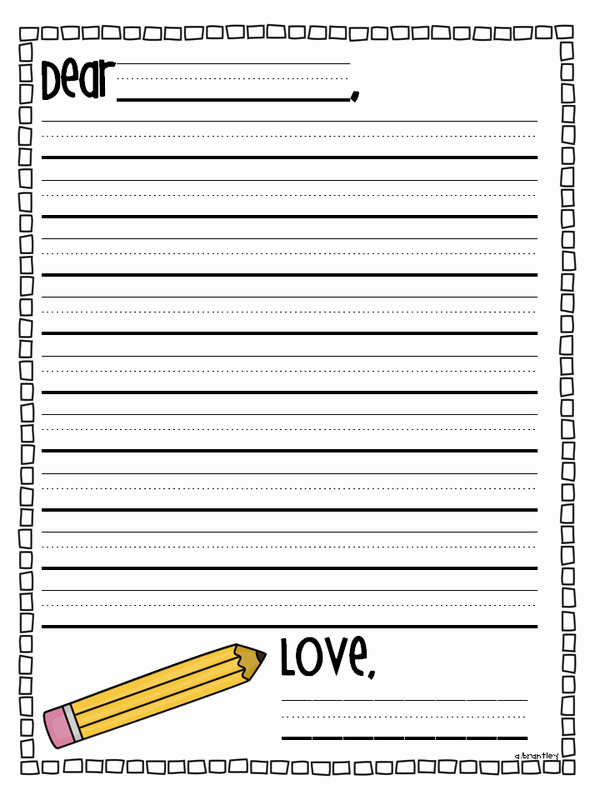 Letter Writing Paper Template Luxury Crazy for First Grade Step Up Day & End Of the Year