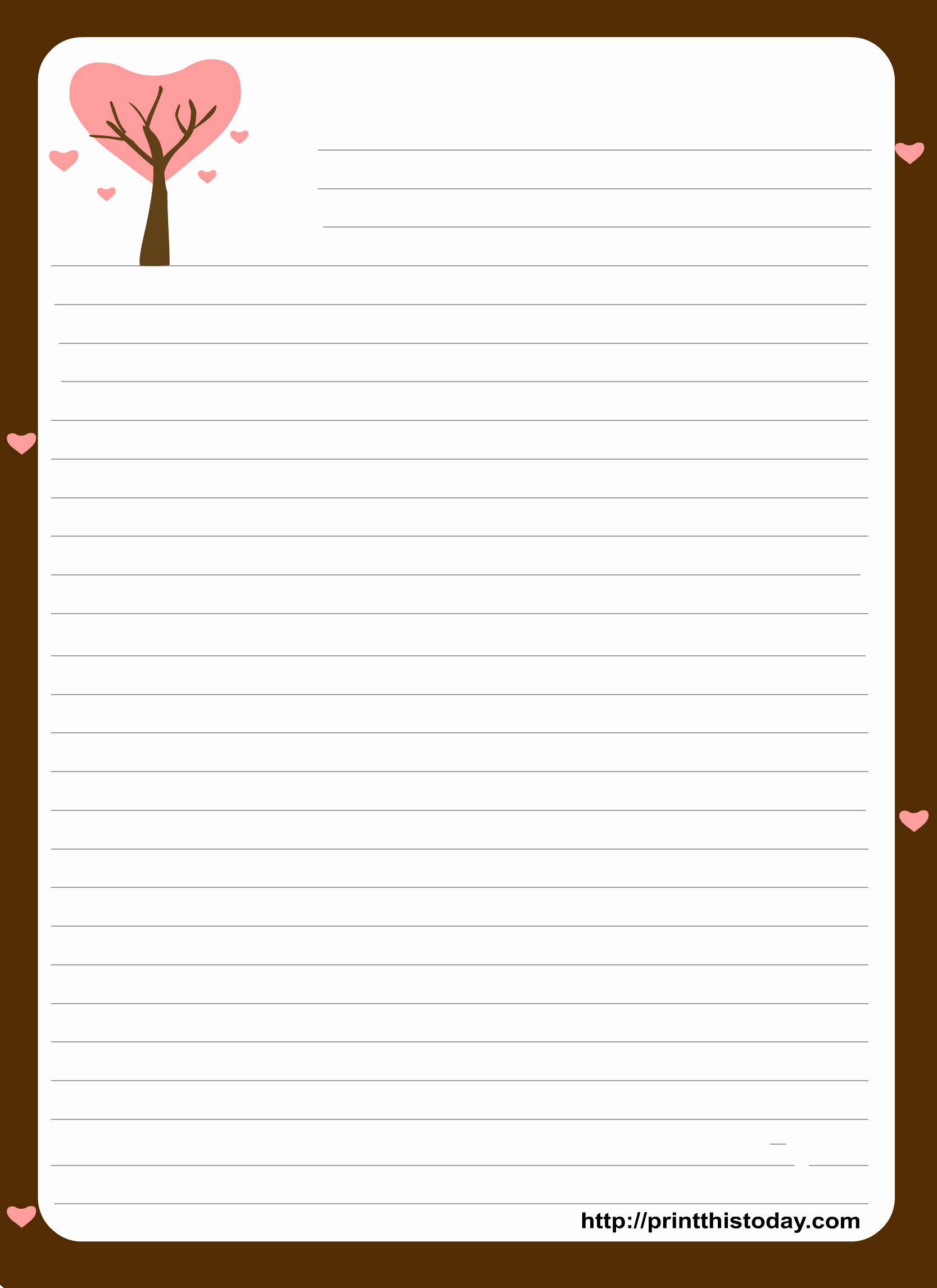 Letter Writing Paper Template New Love Letter Pad Stationery
