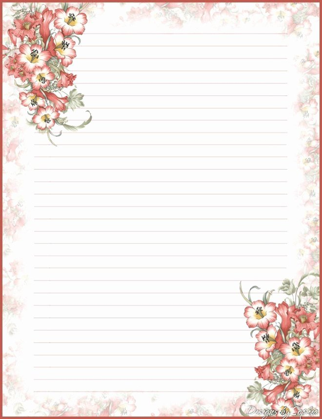 Letter Writing Paper Template Unique Best 25 Free Printable Stationery Ideas On Pinterest