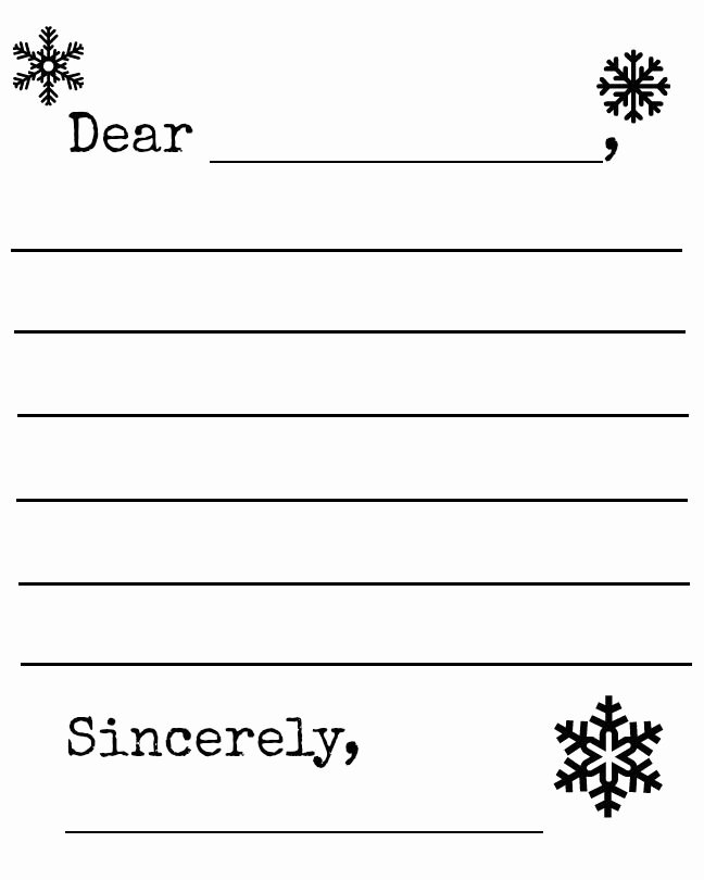 Letter Writing Templates for Kids Awesome Free Snowflake and Snowman Winter Letter Template