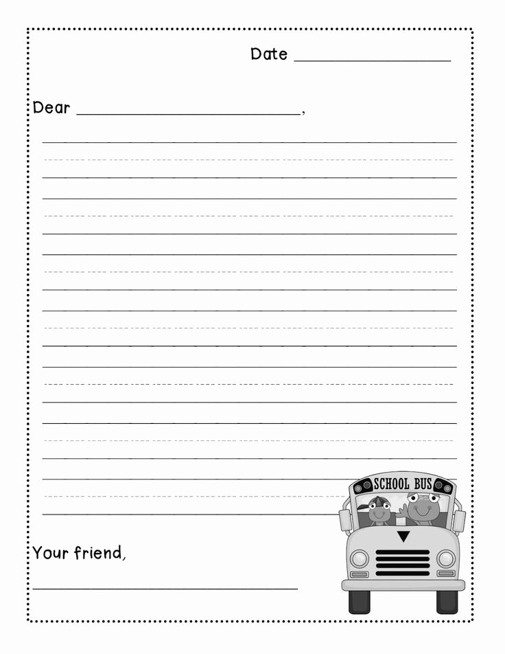 Letter Writing Templates for Kids Awesome Friendly Letter Template for Kids 3rd Grade