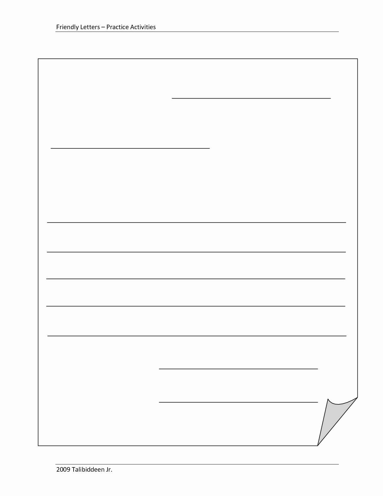 Letter Writing Templates for Kids Beautiful Blank Letter Template for Kids