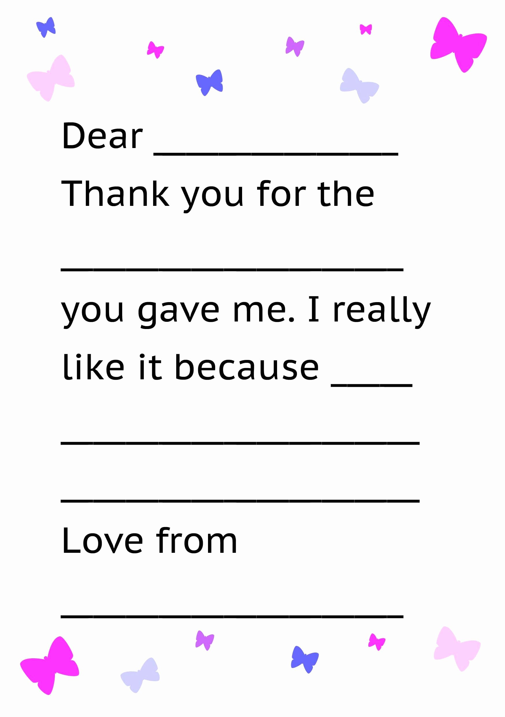 Letter Writing Templates for Kids Best Of formal Letter Sample Thank You Note for Kids Free