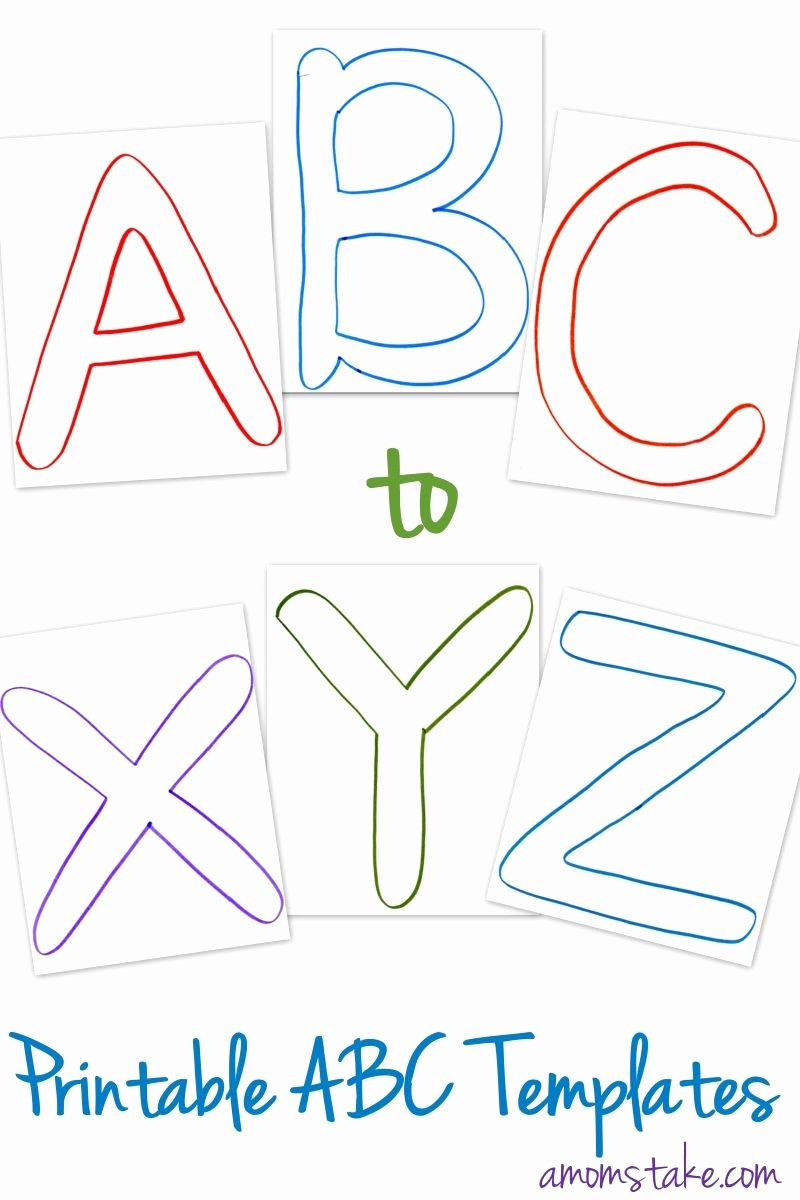 Letter Writing Templates for Kids Elegant Free Abc Printable Letter Templates for Preschool or