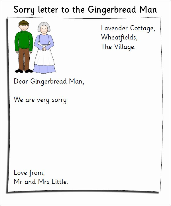 letter template for kids