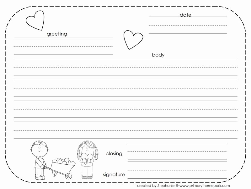 Letter Writing Templates for Kids Inspirational How to Write A Friendly Letter Free Printables