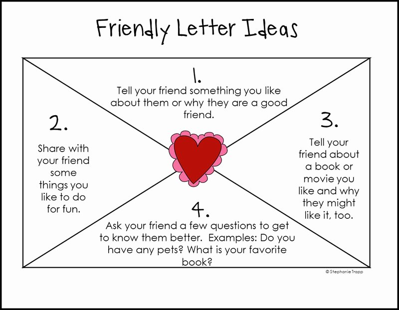 Letter Writing Templates for Kids Inspirational How to Write A Friendly Letter Free Printables Primary